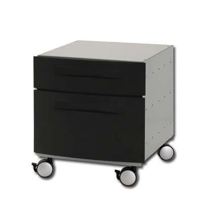 Billede af Conset - BOX1 - Skuffedarium m. 2 skuffer (sort/sølvgrå) -
