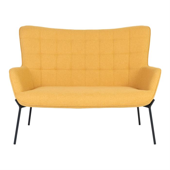 House Nordic – Glasgow – 2-personers sofa (karry/sort) –